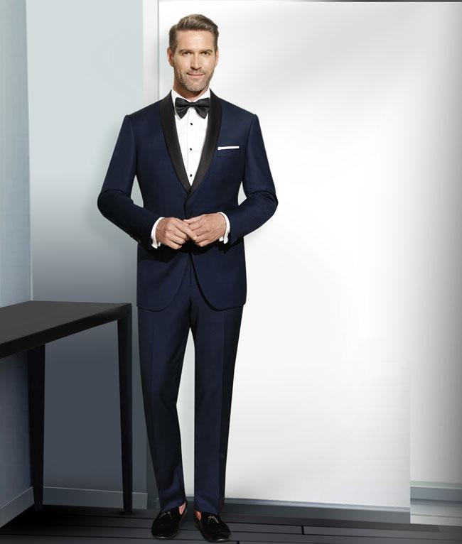 shawl collar tuxedo navy